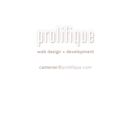 prolifique web design & development
